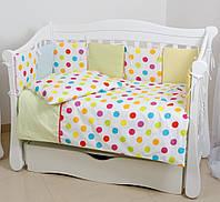 Детское постельное белье в кроватку 4 предмета бампер- подушки Comfort