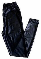 """Лосины """"Диско"""", детские, эффект под кожу, возраст 110-134, темно синий"""