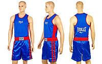 Форма боксерская ELAST VL-3061-B(M)-STAR  (PL, р-р M, майка-синий, шорты синий-красный)