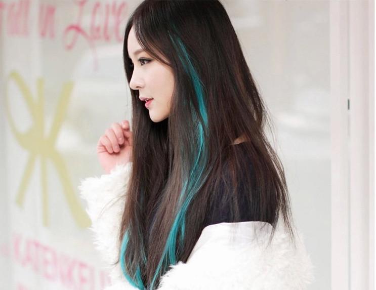 Разноцветные пряди для волос 50 см