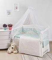 Комплект в кроватку Comfort New Котики бирюз 7 эл., фото 1