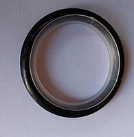 Кольцо тихое д. 19 мм, черное серебро
