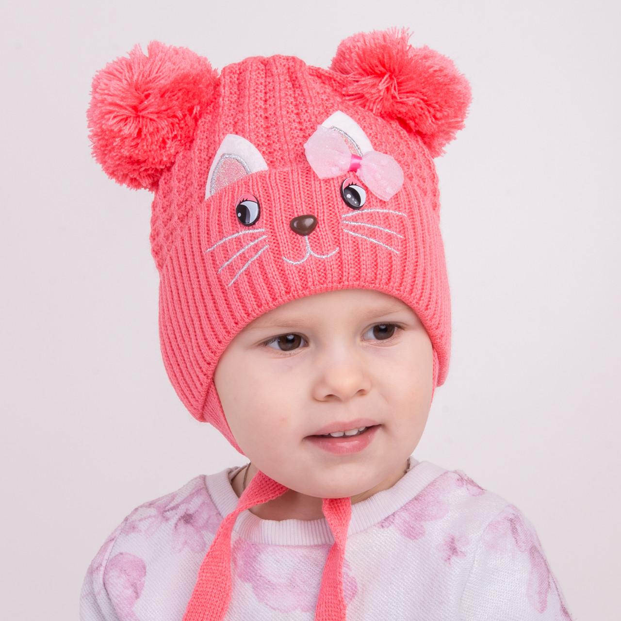 Весенняя шапка на завязках для девочек - Артикул 1172