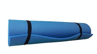 Коврик для йоги и фитнеса однослойный 8мм