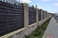 Полупарапет бетонный на забор 1250*400*70 мм