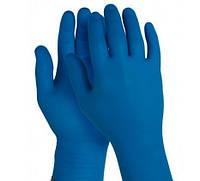 Перчатки нитриловые без пудры, синие.