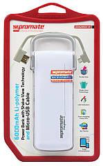 Компактный аккумулятор Promate PolyMax-6 White