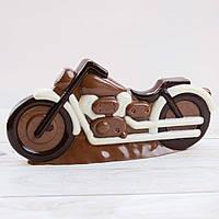 """Шоколадная фигура """"Мотоцикл Большой"""" классическое сырье. Размер: 60х295х140мм, вес 500г, фото 1"""