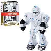 Робот 6026 27 см, ходит, поднимает гантели, музыка, свет