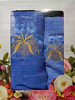 Полотенце махровое для лица и рук + банное (в коробке)