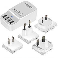 Универсальное зарядное устройство Promate PowerHub-4 White