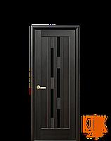 Межкомнатные двери Новый Стиль Лаура черное стекло  (венге)