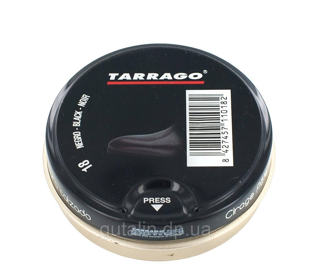 Крем-паста для обуви Tarrago Shoe Polish, 50 мл, цв. черный (18)
