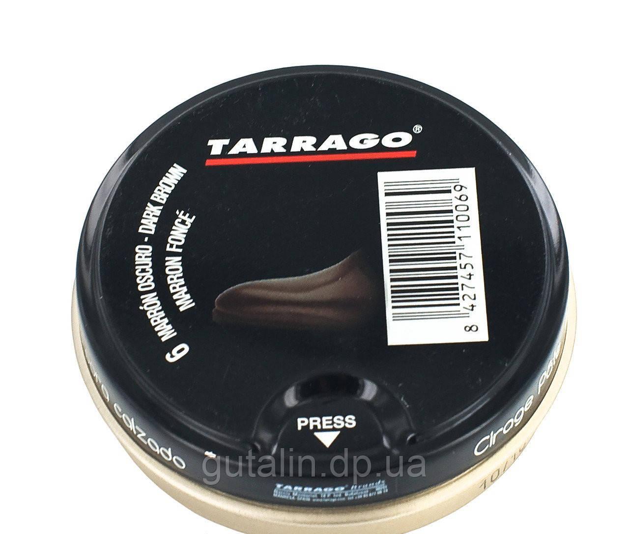 Крем-паста для обуви Tarrago Shoe Polish, 50 мл, цв. темно-коричневый (06)