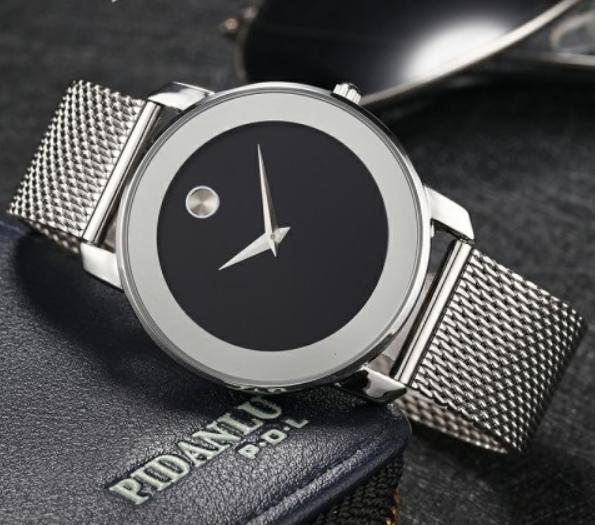 Наручные часы Miss Fox в минималистском стиле (Унисекс) Silver/Black (21912)