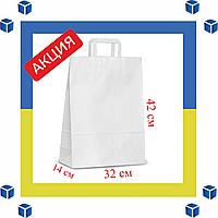 Бумажный пакет с прямыми ручками (320мм/140мм/420мм)