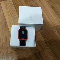 Новые оригинальные умные часы Xiaomi Amazfit Huami Watch Bip A1608  cinnabar red