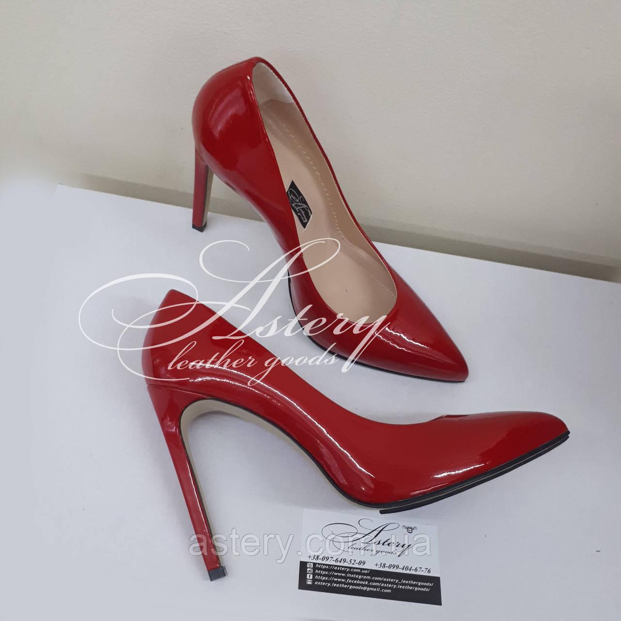 eb256afeb Женские красные лаковые туфли на шпильке - Astery Leather Goods в Киеве