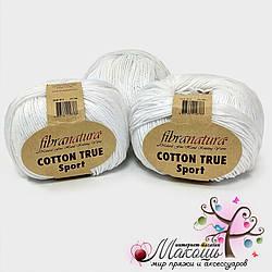 Пряжа Fibranatura Cotton True Sport, 107-17, белый