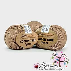 Пряжа Fibranatura Cotton True Sport, 107-15, мокко