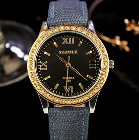 Женские наручные часы Yazole WW0323-324 Blue Black