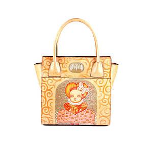 Стильная женская сумка из натуральной кожи трапециевидной формы Infanta