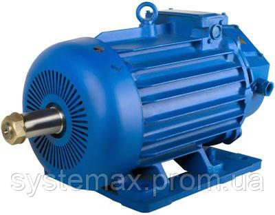 Крановий електродвигун МТН 412-8 (MTF 412-8) 22 кВт, 750 об/хв (715 об/хв) з фазним ротором, фото 2