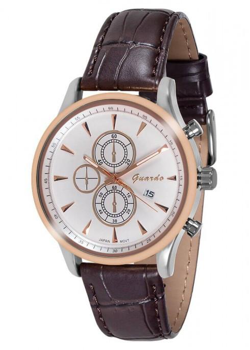 Часы Guardo  10602 RgsWBr  кварц.