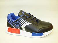 Кроссовки черные с синим Т709 р 36