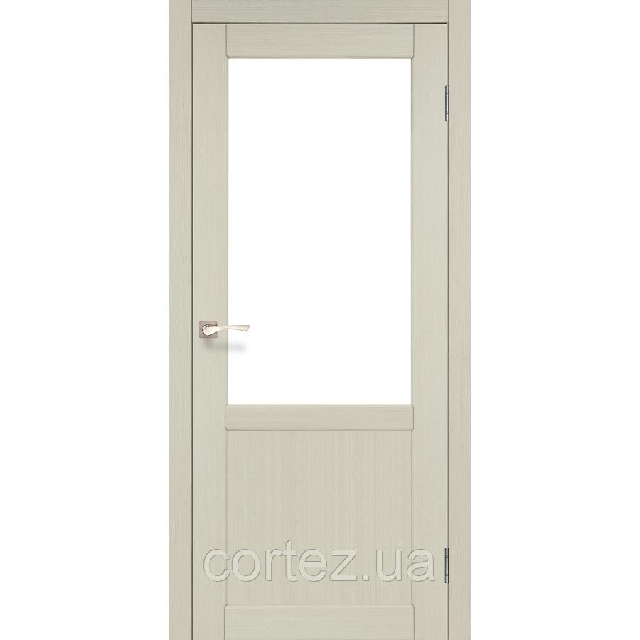 Межкомнатные двери экошпон Модель PL-01 со стеклом