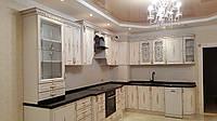 Классическая белая кухня с крашенными матовыми фасадами