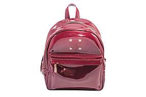 Рюкзак женский из качественного кожзама бордо