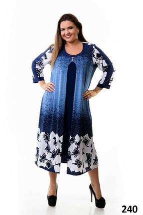 """Женское платье ткань """"масло"""" 56, 58, 62 размер, фото 2"""