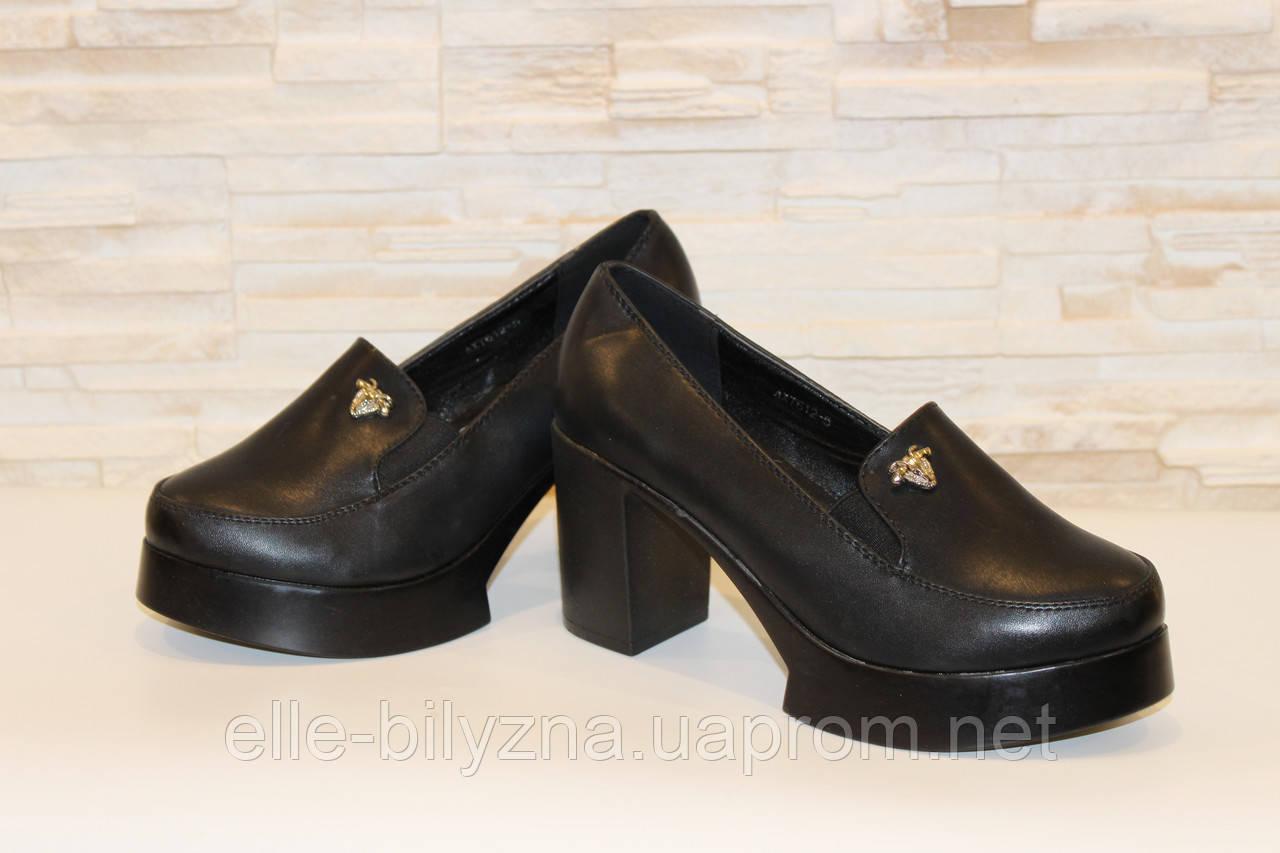 Туфли женские черные на каблуке Т892 р 37 38