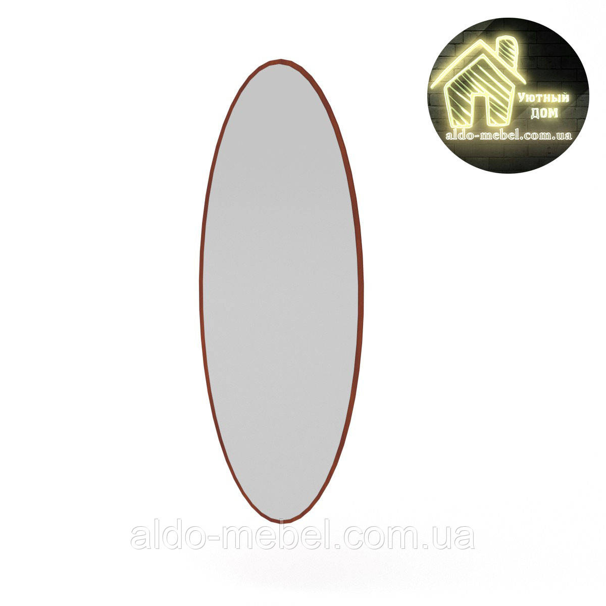 Зеркало - 1 Габариты: Ш - 360 мм; В - 1020 мм; Г - 20 мм.(Компанит)