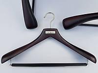Плечики комиссионные деревянные костюмные Mainetti черно-коричневые, 44,5 см