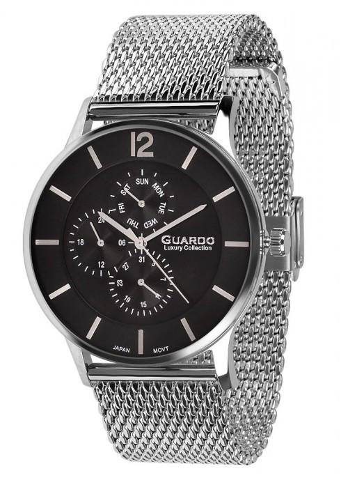Часы Guardo  S01253(m) SB  браслетV  кварц.