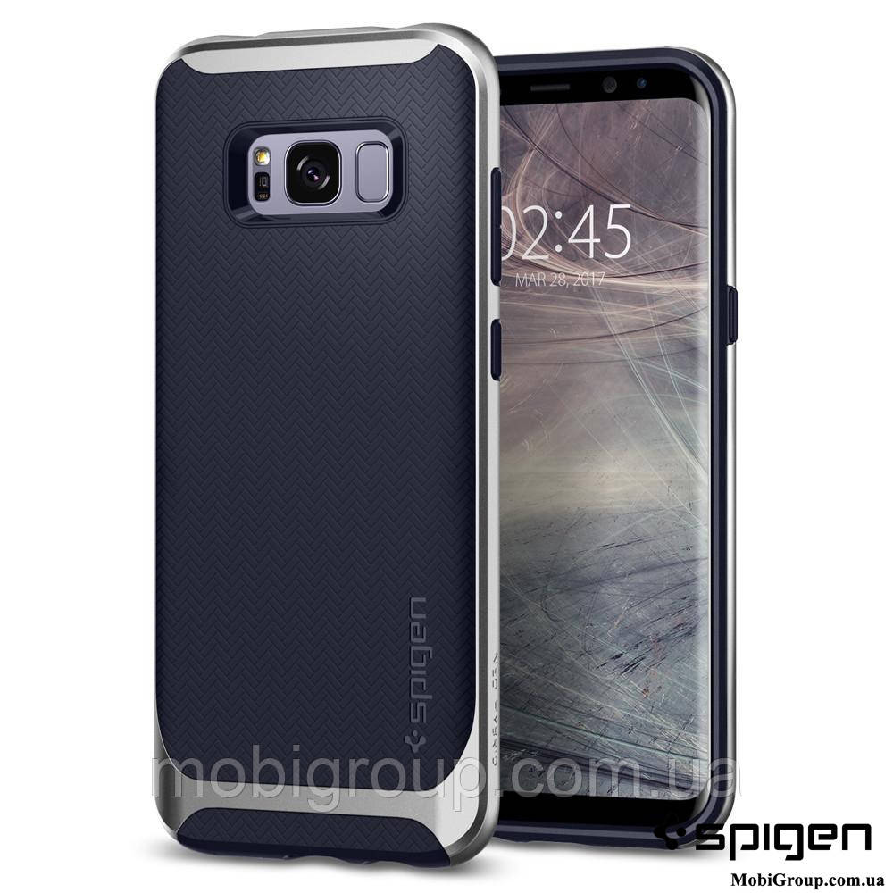 Чехол Spigen для Samsung S8 Plus Neo Hybrid, Silver Arctic, фото 1