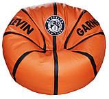Бескаркасная мебель Кресло мяч баскетбол с вышивкой, фото 2