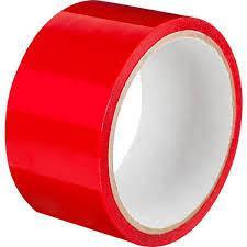 Скотч Красный 40 микрон, 72 мм