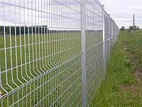 """Панельный забор из сварной сетки """"Рубеж"""", цвет  - серый"""