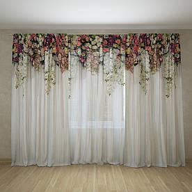 Фотошторы и фототюль арка из цветов