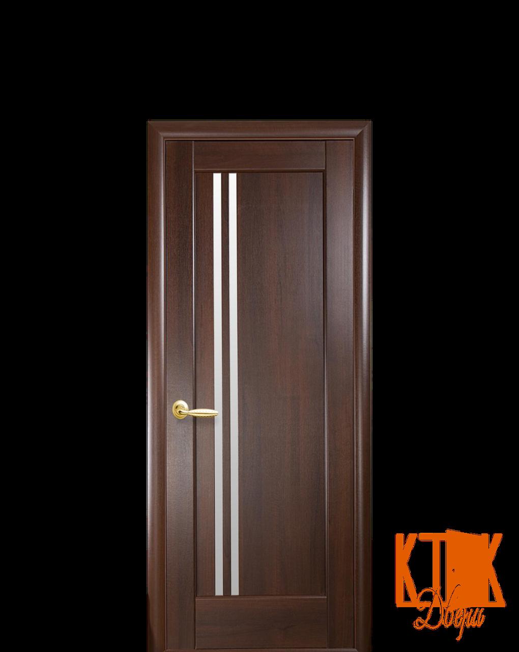 Межкомнатные двери Новый Стиль Делла стекло сатин (каштан)