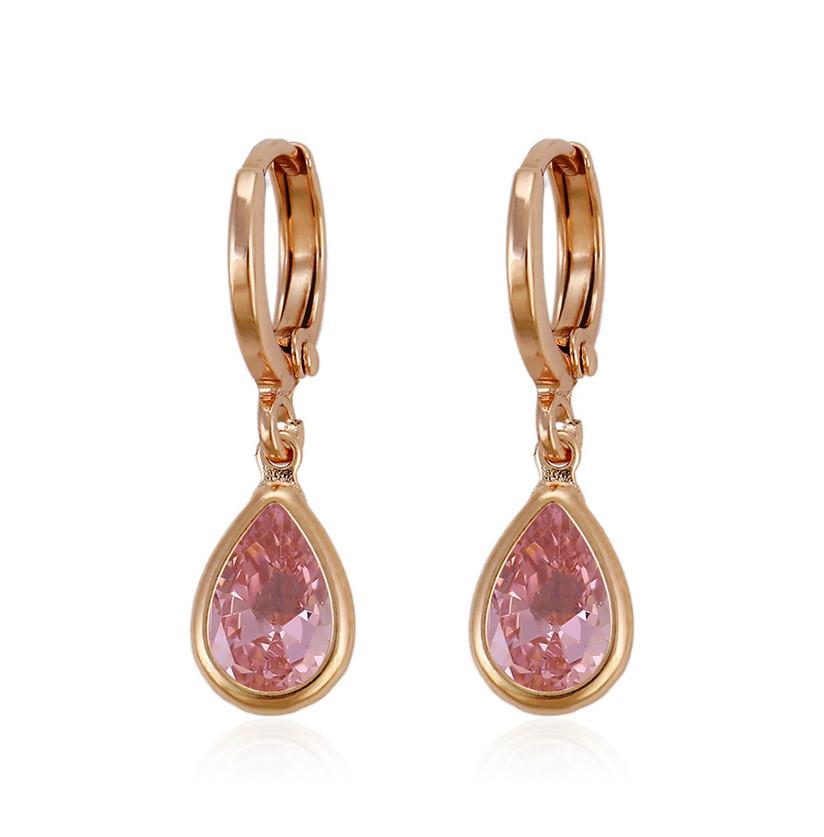 Позолоченные серьги капли Sofique розовые 29082p