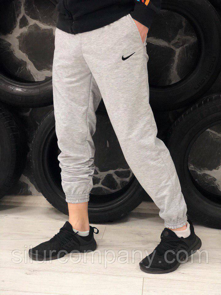 7fbf6172 Серые спортивные штаны мужские | Подростковые штаны Найк - Интернет магазин