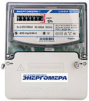 Электросчетчик трехфазный однотарифный ЦЭ 6804-U/1 220В (10-100А) 3ф 4пр МР32, Энергомера