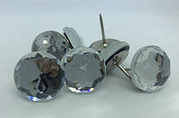 Мебельные гвозди с кристаллом 22 мм