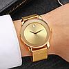 Наручные часы Miss Fox в минималистском стиле (Унисекс) Gold (21913), фото 5