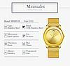 Наручные часы Miss Fox в минималистском стиле (Унисекс) Gold (21913), фото 6