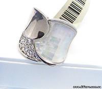 Широкое кольцо с натуральным перламутром